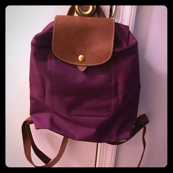Longchamp Handbags - Longchamp Le Pliage Backpack (Dahlia) dd71713ec135c